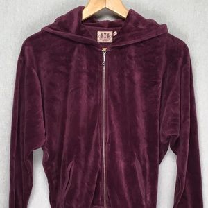 Juicy Couture womens zip up beaded hoodie small